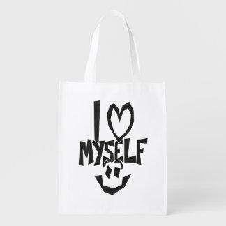 I love myself Smiley Reusable Grocery Bag