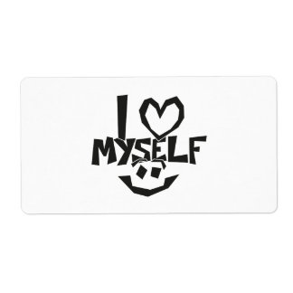 I love myself Smiley Shipping Label