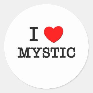 I Love Mystic Classic Round Sticker