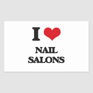 I Love Nail Salons Rectangle Stickers