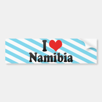 I Love Namibia Bumper Sticker