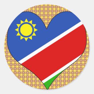 I Love Namibia Classic Round Sticker