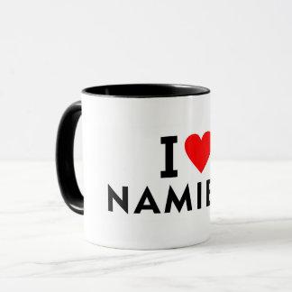 I love Namibia country like heart travel tourism Mug