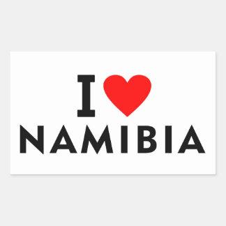 I love Namibia country like heart travel tourism Sticker