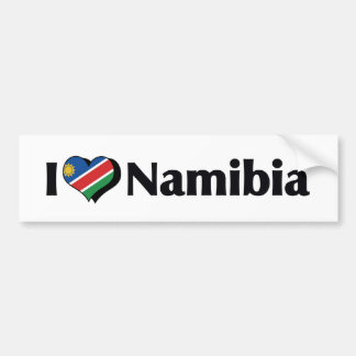 I Love Namibia Flag Bumper Sticker