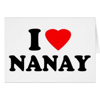 I Love Nanay Greeting Card