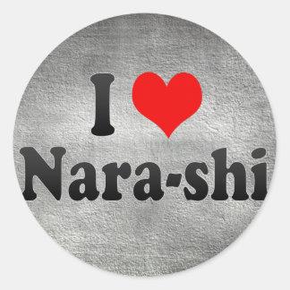 I Love Nara-shi, Japan Classic Round Sticker