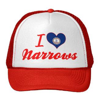 I Love Narrows, Virginia Trucker Hat