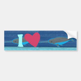 I Love Narwhals Bumper Sticker