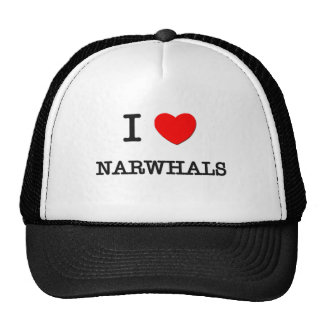 I Love NARWHALS Hats