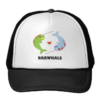 i love narwhals trucker hat