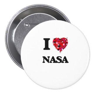 I love Nasa 3 Inch Round Button
