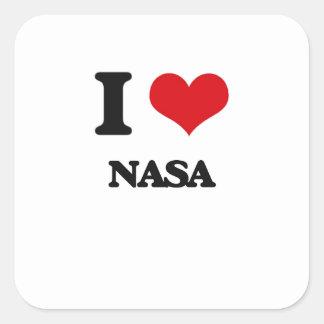 I love Nasa Square Sticker