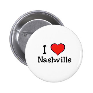 I Love Nashville 2 Inch Round Button