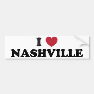 I Love Nashville Tennessee Bumper Sticker