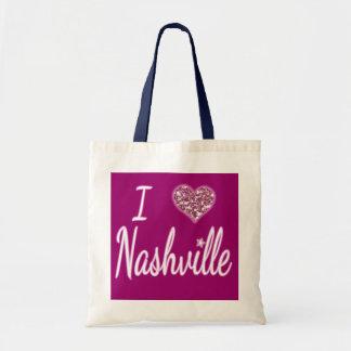 I Love Nashville Tote Bag