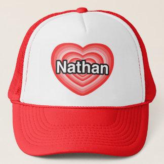 I love Nathan. I love you Nathan. Heart Trucker Hat