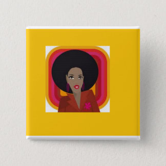 I love natural diva style 2 inch square button