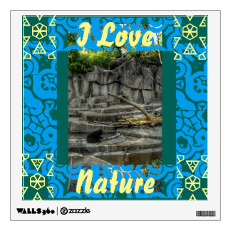 I LOVE NATURE WALL DECAL