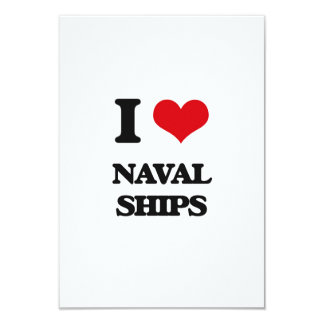 I Love Naval Ships Personalized Invitation Card