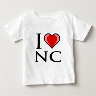 I Love NC - North Carolina Baby T-Shirt