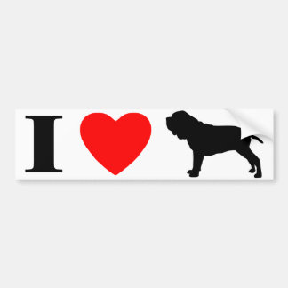 I Love Neapolitan Mastiffs Bumper Sticker