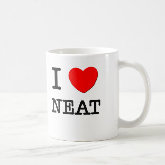 I Love Neat Coffee Mug