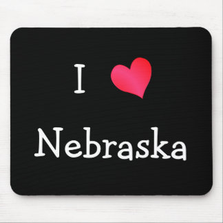 I Love Nebraska Mouse Pad