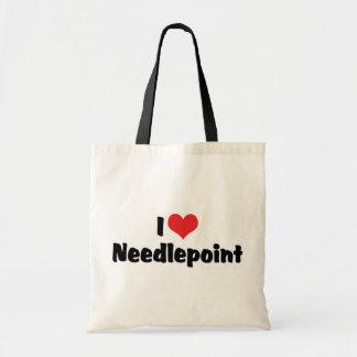 I Love Needlepoint Tote Bag