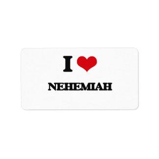 I Love Nehemiah Address Label