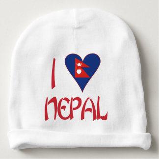 I Love Nepal Baby Beanie