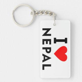 I love Nepal country like heart travel tourism Keychain