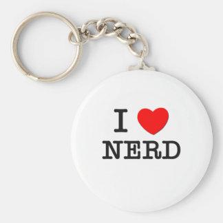 I Love Nerd Keychains