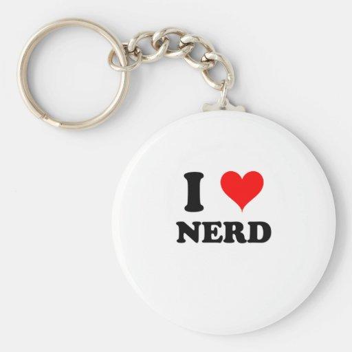 I Love Nerd Key Chain