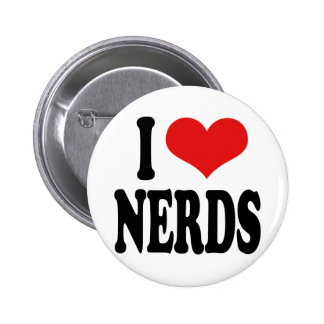 I Love Nerds 2 Inch Round Button
