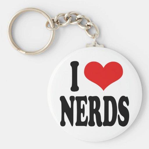 I Love Nerds Key Chain