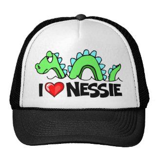 I Love Nessie Mesh Hats