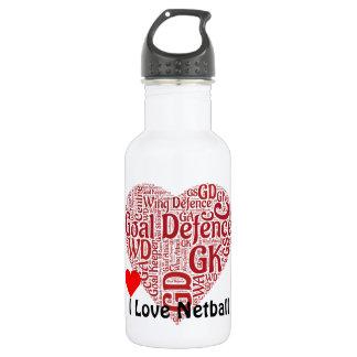 I Love Netball GD Position Word Art 532 Ml Water Bottle