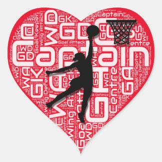 I Love Netball Heart Sticker