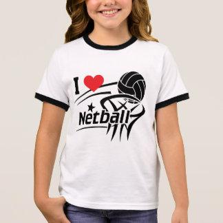 I Love Netball Ringer T-Shirt