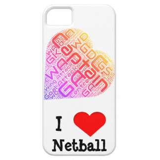 I Love Netball Word Art Design iPhone 5 Case