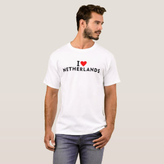 I love Netherlands country like heart travel touri T-Shirt