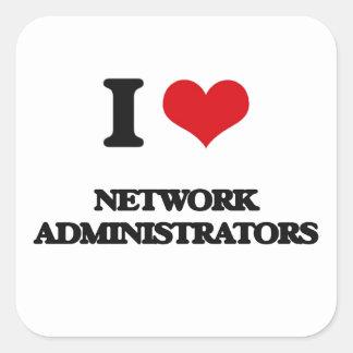 I love Network Administrators Square Sticker