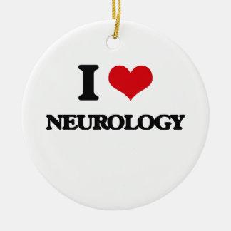I Love Neurology Ceramic Ornament