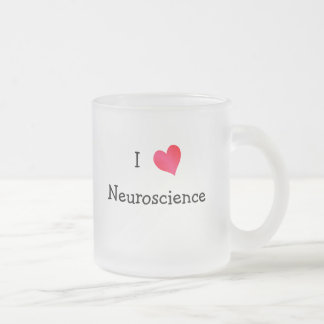 I Love Neuroscience Frosted Glass Coffee Mug