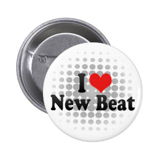 I Love New Beat Pinback Buttons