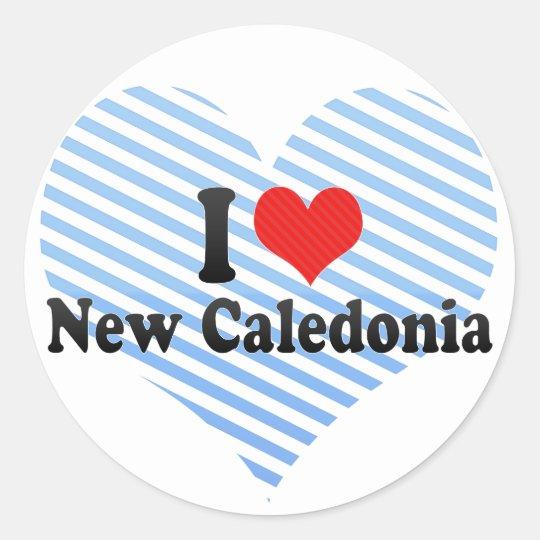 I Love New Caledonia Classic Round Sticker