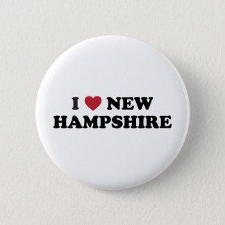 I Love New Hampshire 2 Inch Round Button