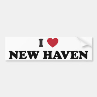 I Love New Haven Connecticut Bumper Sticker