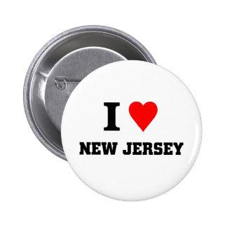 I love New jersey 2 Inch Round Button